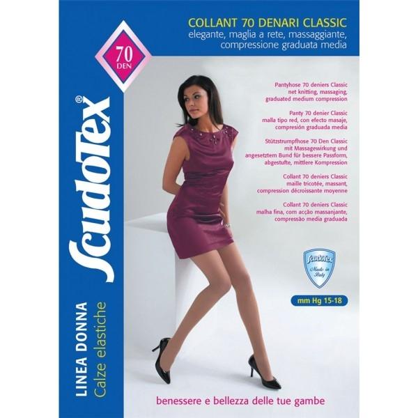 Collant Terapeutico 70 Denari Classic - Mm Hg 15-18 - Scudotex - Daino (Codice 477)