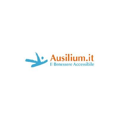 Alzacuscino reggischiena regolabile in acciaio cromato
