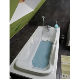 Tappetino per vasca da bagno con stampa rosa senza BPA e lattice Anmarco lavabile in lavatrice 37,3 x 68,3 cm antiscivolo per vasca da bagno motivo cigni