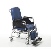 Sedia comoda anatomica con sedia WC e funzionalità di carrozzina da transito