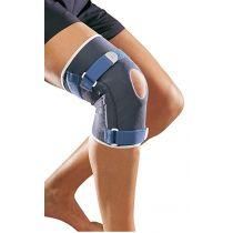 Ginocchiera sportiva in neoprene perforato con guida rotulea e tiranti anti torsione - Thuasne Sport