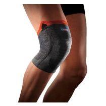 Ginocchiera sportiva di sostegno a compressione rinforzata e traspirante - Thuasne Sport