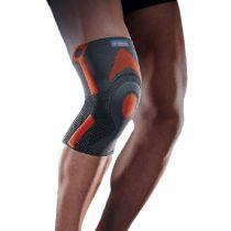 Ginocchiera rotulea rinforzata in tessuto traspirante elastico indicata per attività sportiva - Thuasne Sport