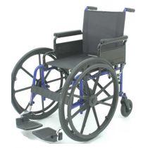 Carrozzina pieghevole per disabili con ruote anteriori ad autospinta