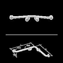 Maniglia lineare ad angolo con supporti centrali in acciaio