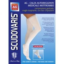 Autoreggente media antitrombo - mm Hg 18-24 - Scudovaris - Nature - statura sino a 175 cm (cod. 423)