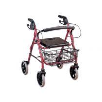Deambulatore con sedile e cestello ad altezza regolabile