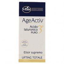 Siero rigenerante anti rughe  con acido ialuronico puro 3P - AgeActiv  Elisir Supremo Lifting Totale - 30 ml