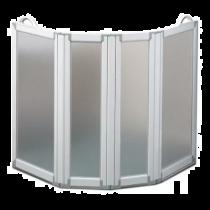 Paratia mobile per vasca da bagno - 4 pannelli - altezza 75 cm