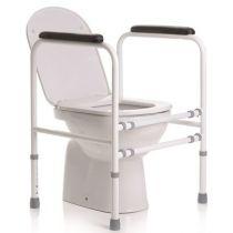 Braccioli toilette - sostegno per Wc Regolabile in Altezza - Acciaio Verniciato