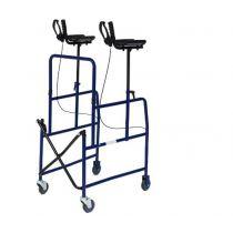 Deambulatore pieghevole per anziani con freno manuale e supporti brachiali - VD 090
