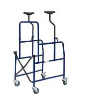 Deambulatore pieghevole per anziani con ruote frenanti - VD 090