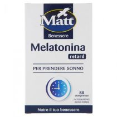 Integratore alimentare per favorire il sonno in modo graduale - Melatonina Retard - 80 compresse