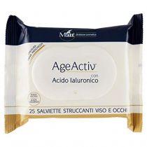 Salviette struccanti per viso e occhi senza alcool e senza allergenti - AgeActiv - 25 pezzi