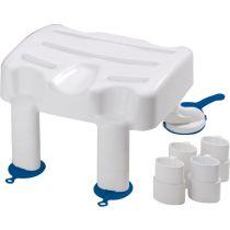 Sgabello da bagno regolabile in altezza con ventose