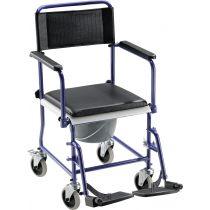 Sedia comoda WC con ruote per anziani