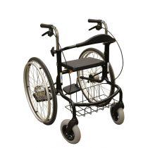 Deambulatore carrozzina pieghevole e facile da trasportare - Nero - Wheellator