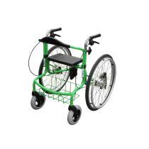 Deambulatore carrozzina pieghevole e facile da trasportare - Verde - Wheellator