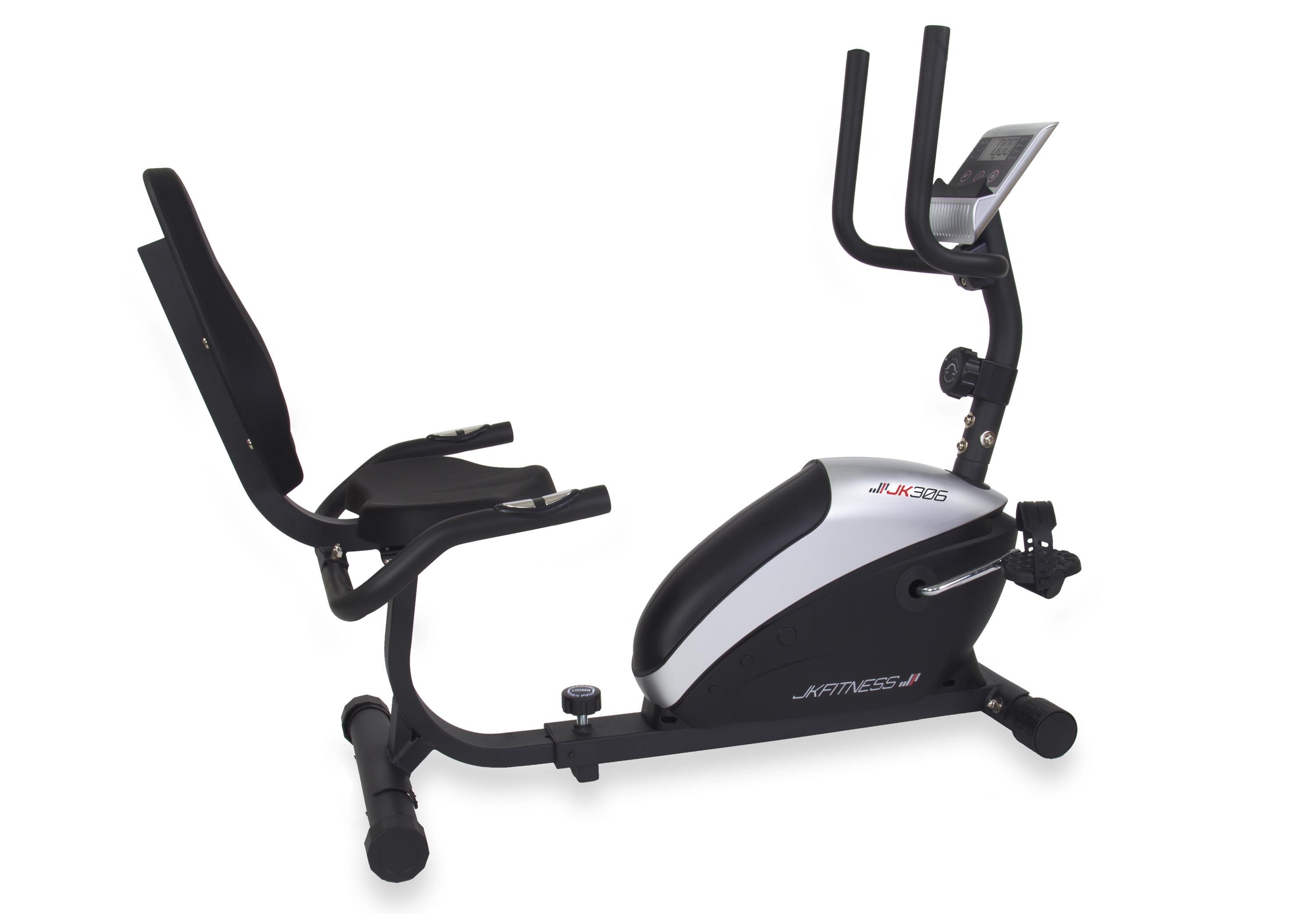Cyclette orizzontale magnetica ad 8 livelli di resistenza manuale - JK Fitness - JK 306