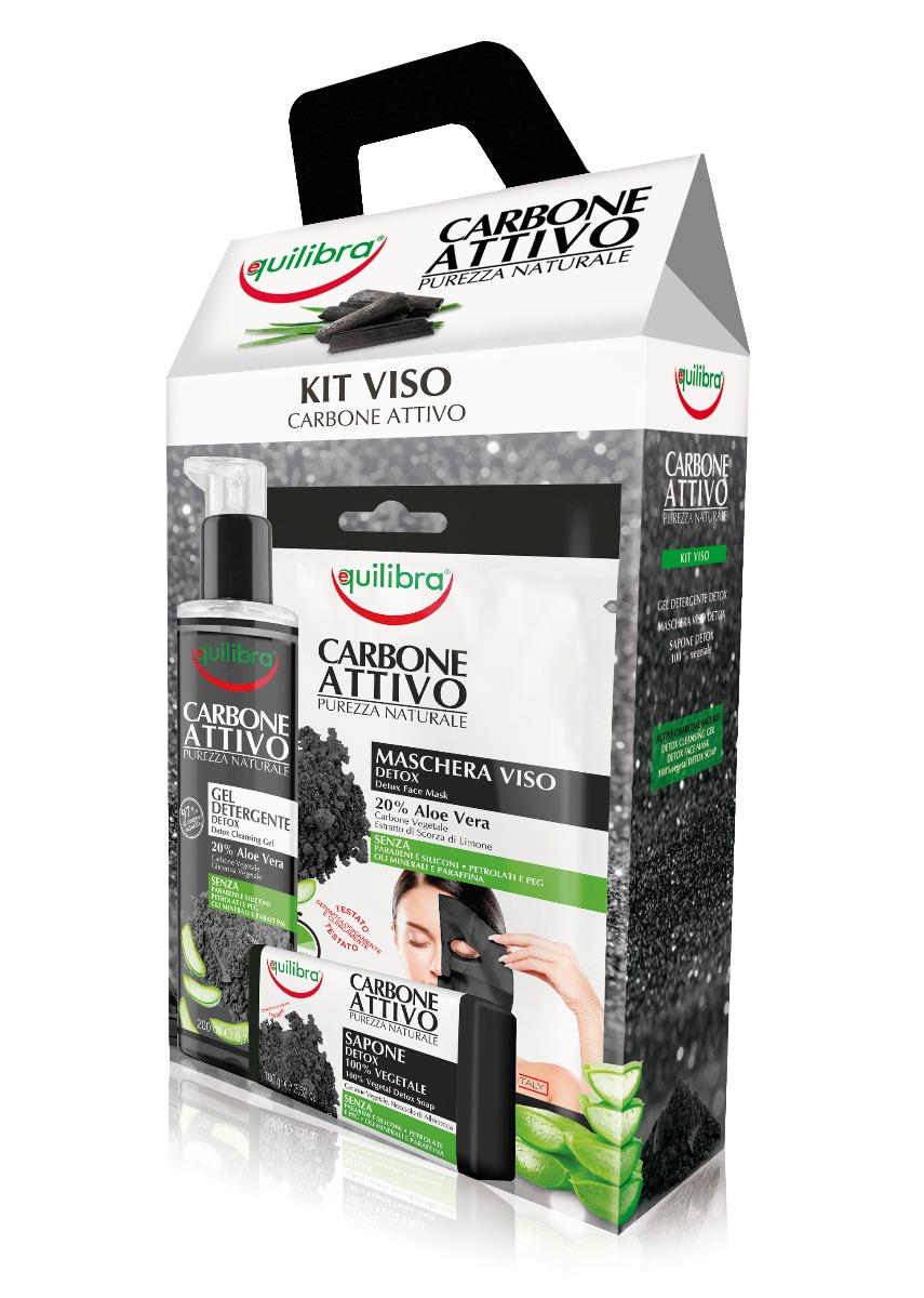 Kit Carbone Attivo Viso Equilibra