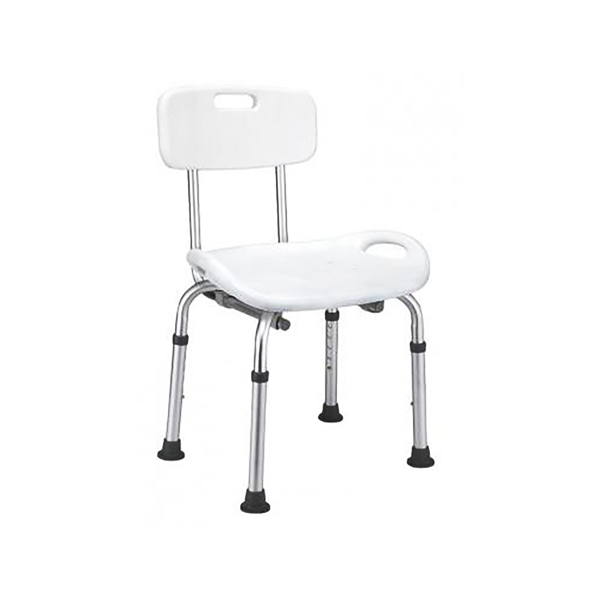 Sedia da Doccia in Alluminio con Schienale, Portata 135 Kg